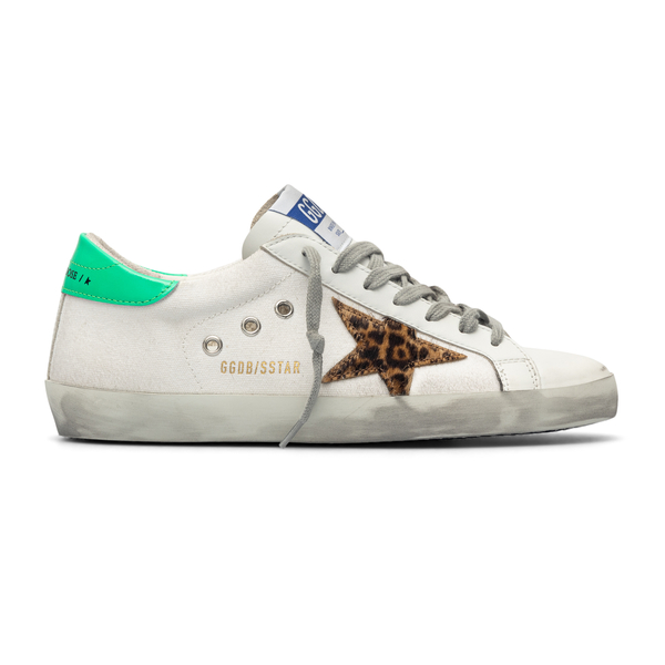 White sneakers with animalier logo                                                                                                                    Golden Goose GMF00101 back