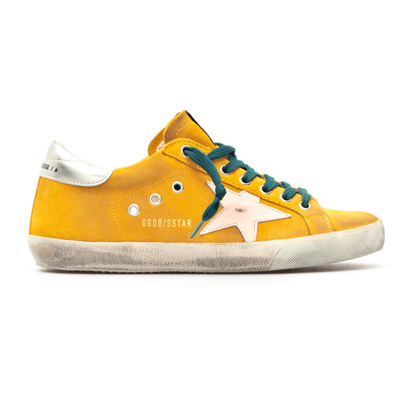 Orange sneakers with silver heel                                                                                                                      Golden Goose GMF00101 back