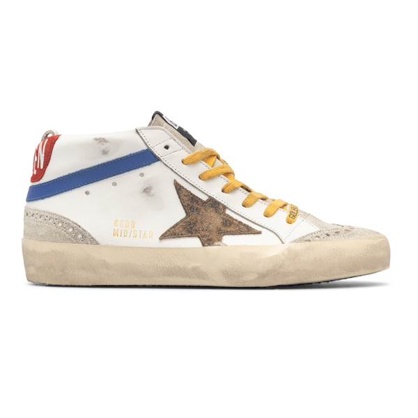 White sneakers with colored details                                                                                                                   Golden Goose GMF00122 retro