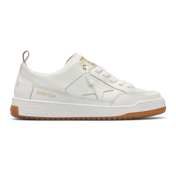 Sneakers bianche con patch a stella                                                                                                                   Golden Goose GMF00130 retro