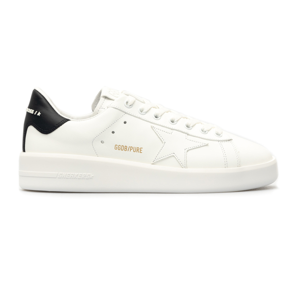 White sneakers with black heel                                                                                                                        Golden Goose GMF00197 back