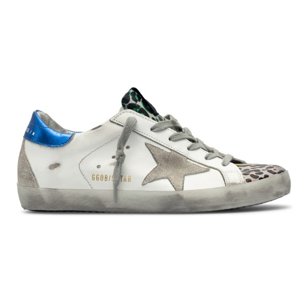 White sneakers with contrasting details                                                                                                               Golden Goose GWF00102 back