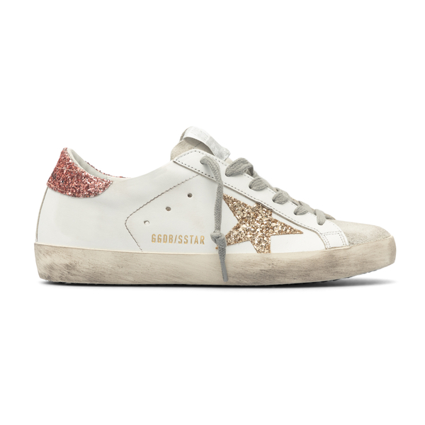 White sneakers with glitter details                                                                                                                   Golden Goose GWF00101 back