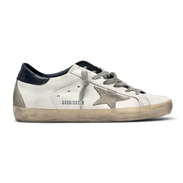 White sneakers with black heel                                                                                                                        Golden Goose GWF00102 back