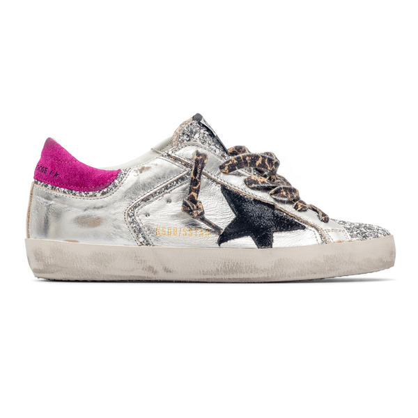 Silver sneakers with star                                                                                                                             Golden Goose GWF00103 back