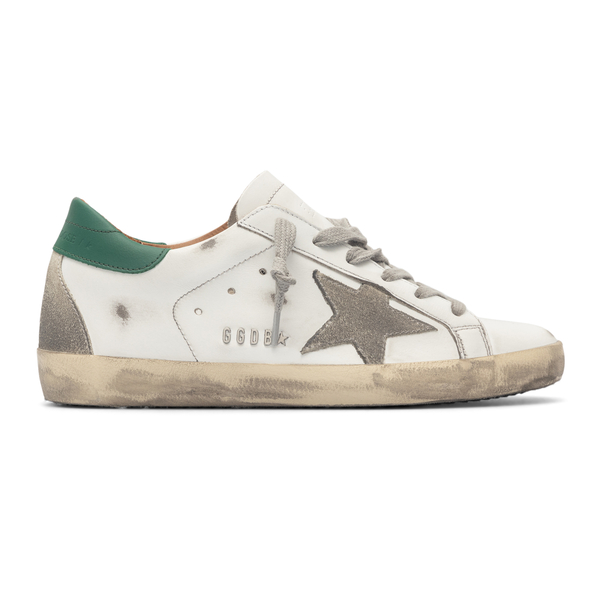White sneakers with green heel                                                                                                                        Golden Goose GWF00102 back