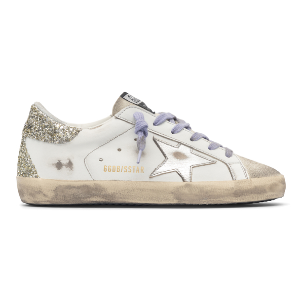 White sneakers with glitter                                                                                                                           Golden Goose GWF00102 back