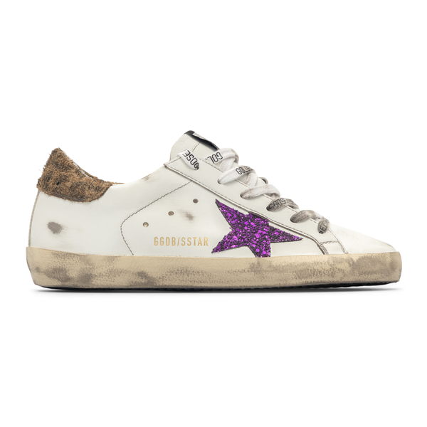 White sneakers with glitter star                                                                                                                      Golden Goose GWF00101 back