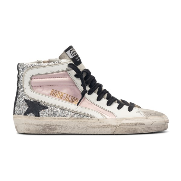Paneled sneakers with silver glitter                                                                                                                  Golden Goose GWF00116 back