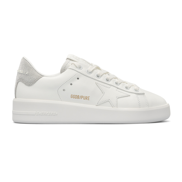 White sneakers with suede heel                                                                                                                        Golden Goose GWF00197 back