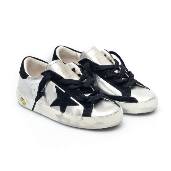 Silver sneakers with black details                                                                                                                     GOLDEN GOOSE