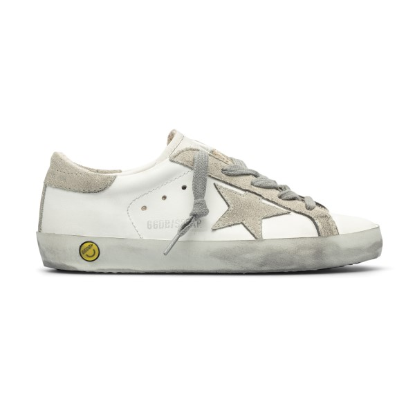 White sneakers with suede details                                                                                                                     Golden Goose GYF00101 back