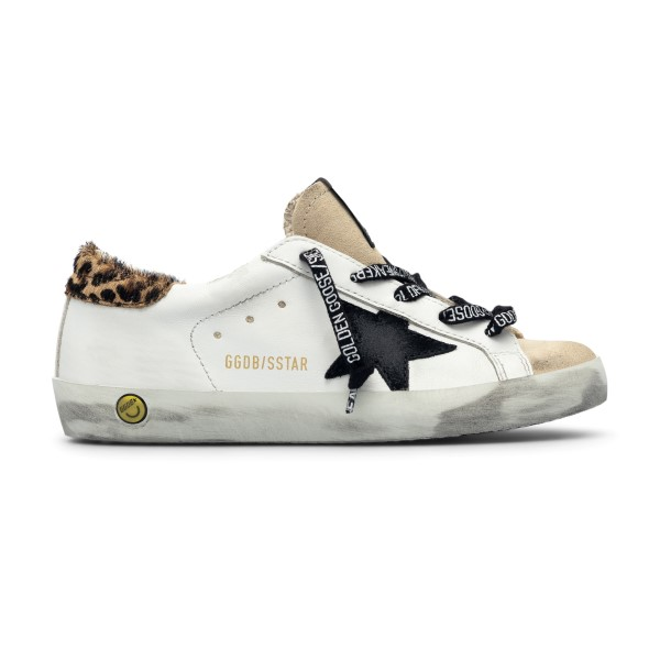 White sneakers with animalier detail                                                                                                                  Golden Goose GYF00101 back