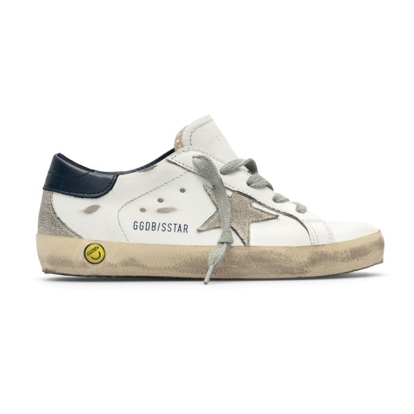 Sneakers bianche con tallone nero                                                                                                                     Golden Goose GYF00102 fronte