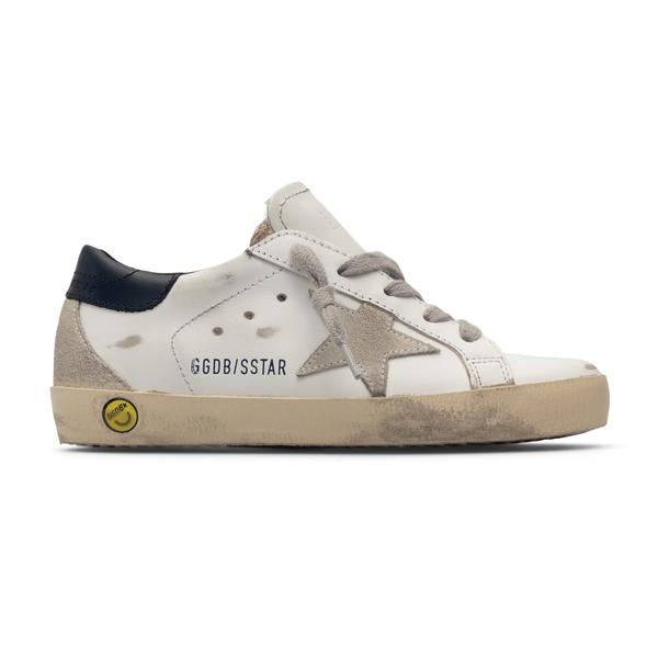Sneakers basse bianche a effetto vissuto                                                                                                              Golden Goose GYF00102 retro