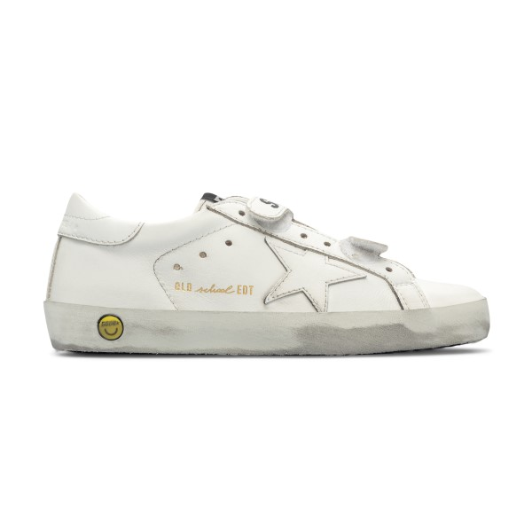 Sneakers bianche con smile                                                                                                                            Golden Goose GYF00111 fronte
