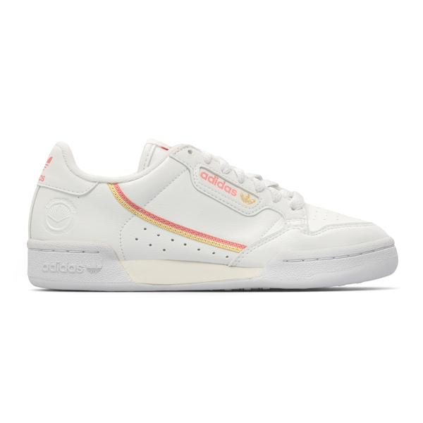 White sneakers with stripes on the sides                                                                                                              Adidas Originals H05315 back