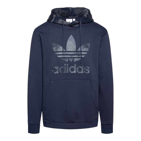 Blue sweatshirt with camouflage hood                                                                                                                  Adidas Originals H13475 back
