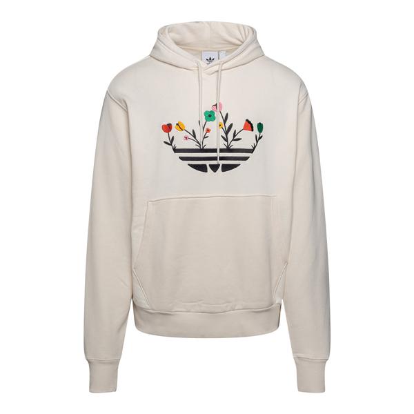 White sweatshirt with flower embroidery                                                                                                               Adidas Originals H32306 back