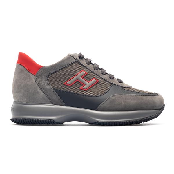 Sneakers grigie con logo laterale                                                                                                                     Hogan HXM00N0Q101 retro