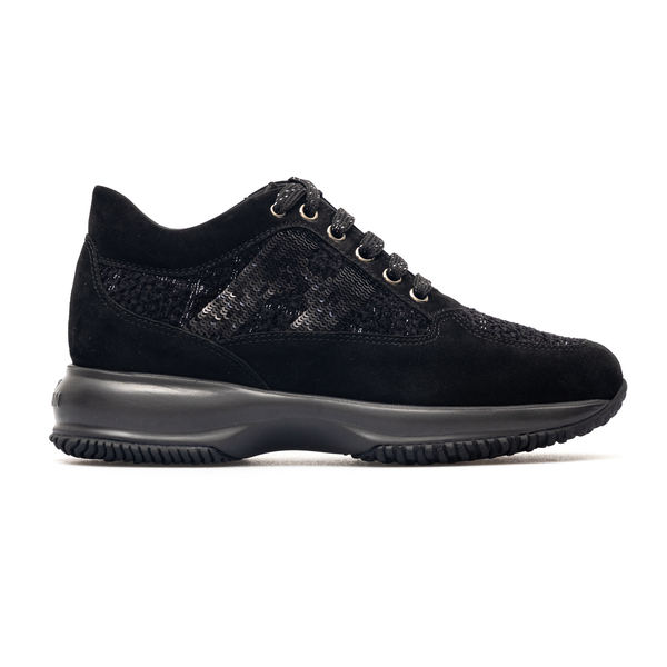 Black sneakers with sequin logo                                                                                                                       Hogan HXW00N05640 back