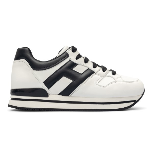White sneakers with contrasting panels                                                                                                                Hogan HXW2220T548 front