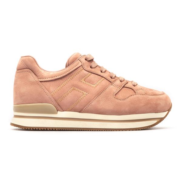 Pink suede sneakers                                                                                                                                   Hogan HXW2220DL91 back