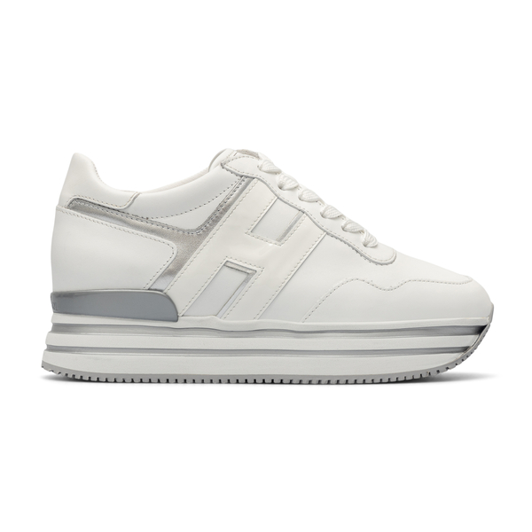 White sneakers with thick striped sole                                                                                                                Hogan HXW4830CB80 back