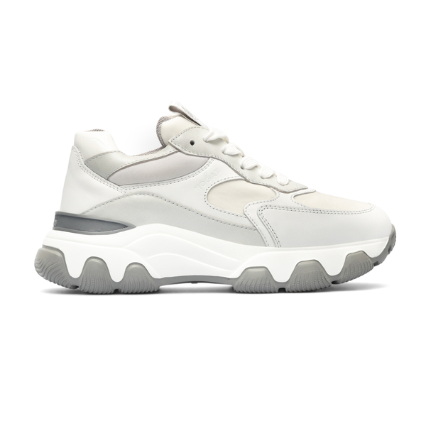 White and grey sneakers with thick sole                                                                                                               Hogan HXW5400DG60 back