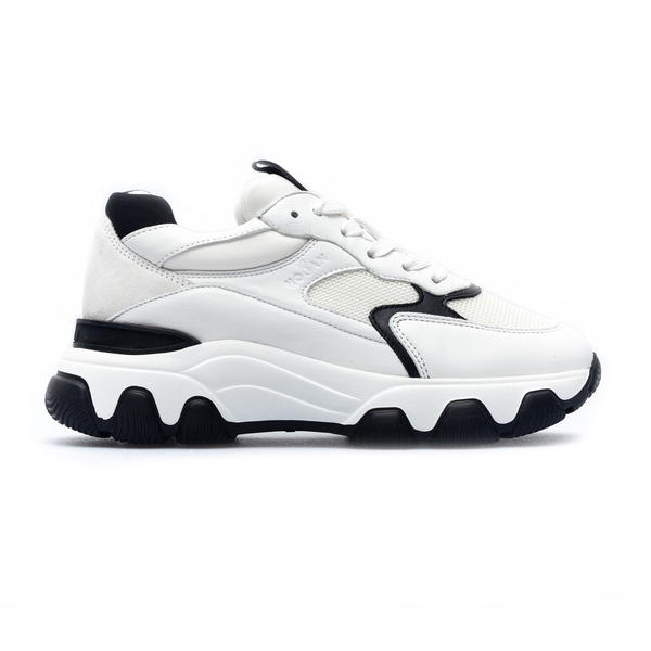 White sneakers with thick sole                                                                                                                        Hogan HXW5400DG60 back