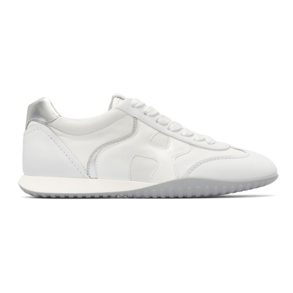 White sneakers with silver detail                                                                                                                     Hogan HXW5650DO00 back