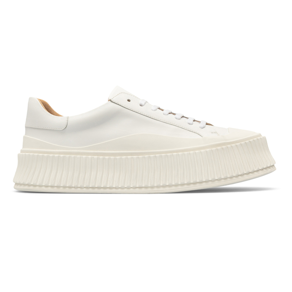 White sneakers with platform sole                                                                                                                     Jil sander JI32535A front
