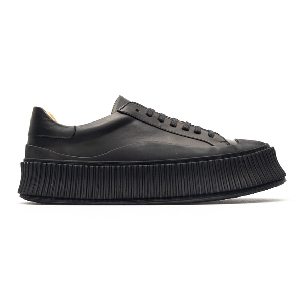 Black sneakers with platform sole                                                                                                                     Jil sander JI32535A front