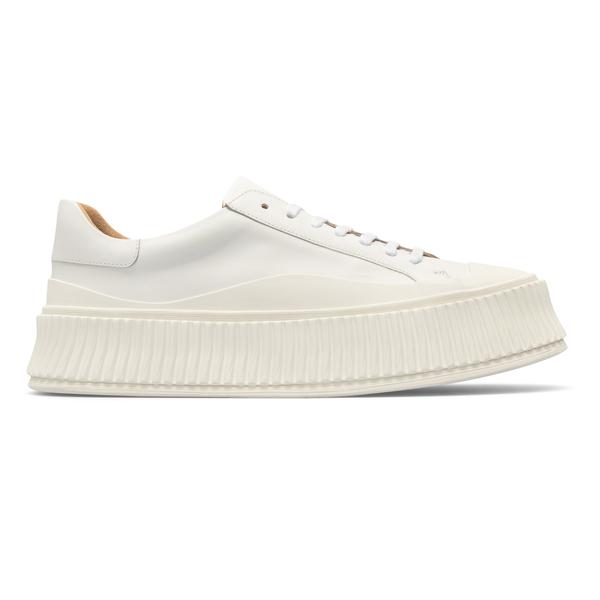 Sneakers bianche con suola spessa                                                                                                                     Jil Sander JI32535A retro