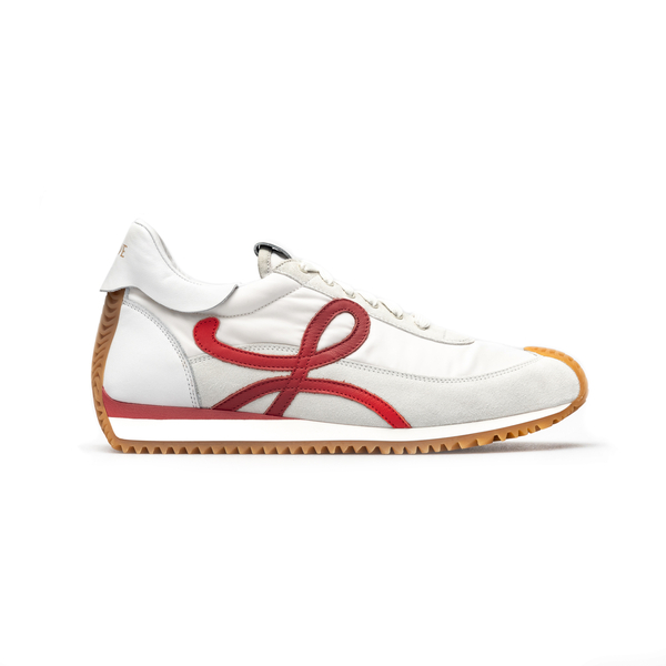 White sneakers with brand initial                                                                                                                     Loewe M816282X28 back