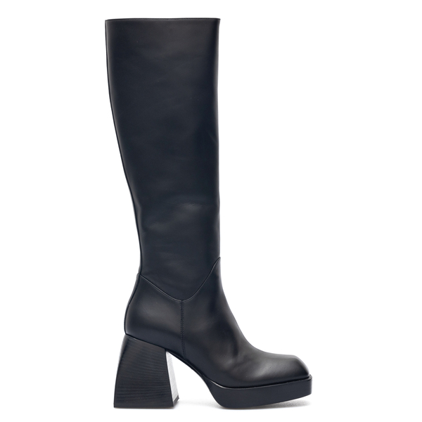 Black boots with sculpted heel                                                                                                                        Nodaleto NO13 back
