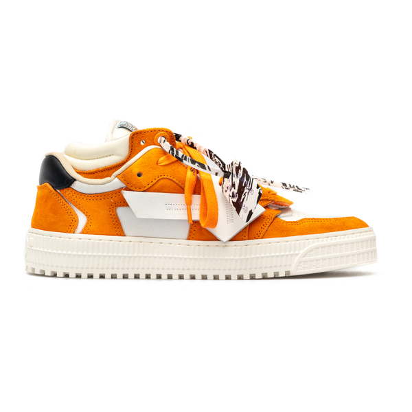 White and orange sneakers with arrow logo                                                                                                             Off White OMIA151S21LEA001 back