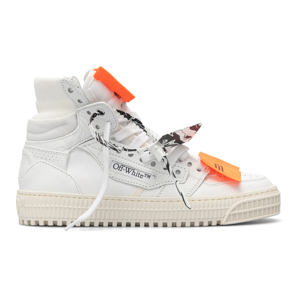 White high-top sneakers with zip-tie plate                                                                                                            Off White OWIA112F21LEA001 back