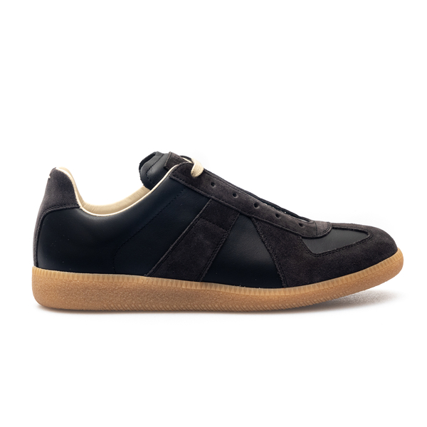 Black sneakers with suede details                                                                                                                     Maison Margiela S57WS0236 back