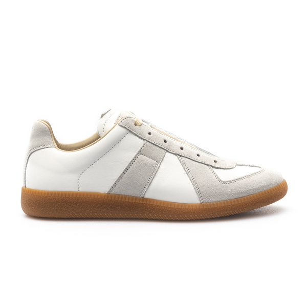 White sneakers with beige details                                                                                                                     Maison Margiela S57WS0236 back