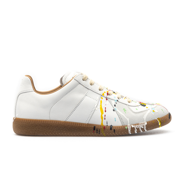 White sneakers with paint spots                                                                                                                       Maison Margiela S58WS0101 back