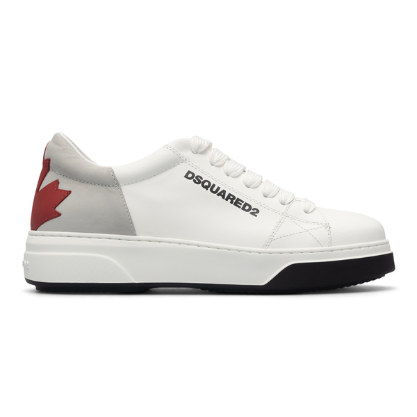 White sneakers with logo on the heel                                                                                                                  Dsquared2 SNM0173 back
