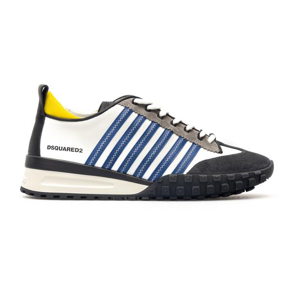 Sneakers bianche con dettagli colorati                                                                                                                Dsquared2 SNM0199 retro