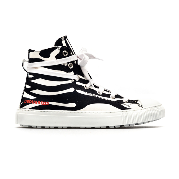 High zebra sneakers with logo                                                                                                                         Dsquared2 SNW0129 back