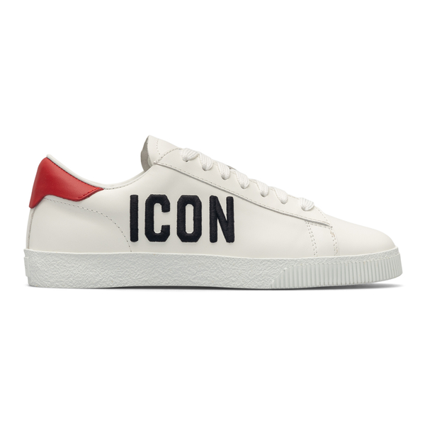 White sneakers with logo and red heel                                                                                                                 Dsquared2 SNW0147 back