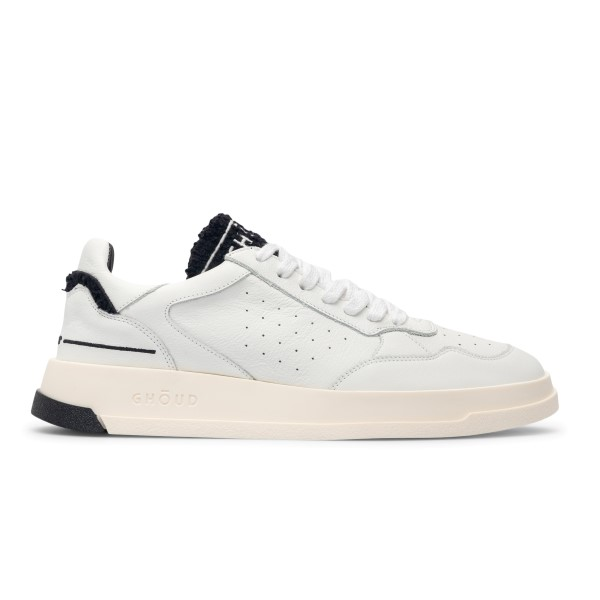 White sneakers with embroidered logo                                                                                                                  Ghoud TWLM front