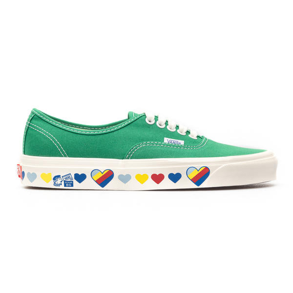 Green sneakers with print on the sole                                                                                                                 Vans VN0A54F241I1 back