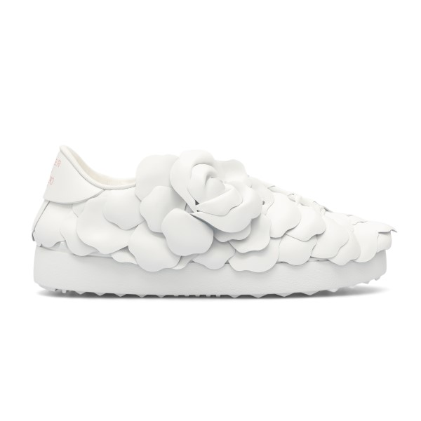 White sneakers with petals                                                                                                                            Valentino garavani VW2S0BN1 front