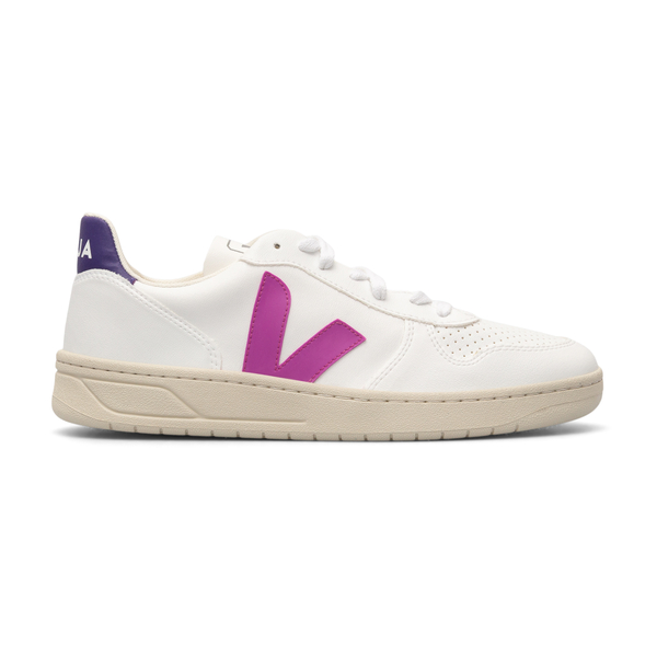 White sneakers with purple details                                                                                                                    Veja VX072536 back