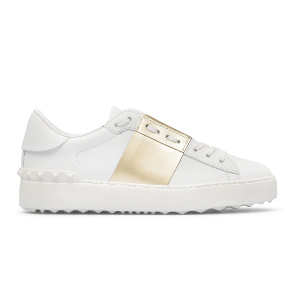 White sneakers with gold band                                                                                                                         Valentino garavani VY2S0830 front